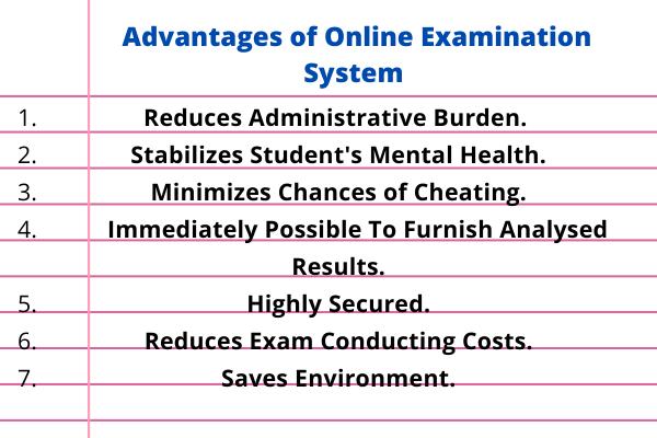 Advantage Of Online Examination System